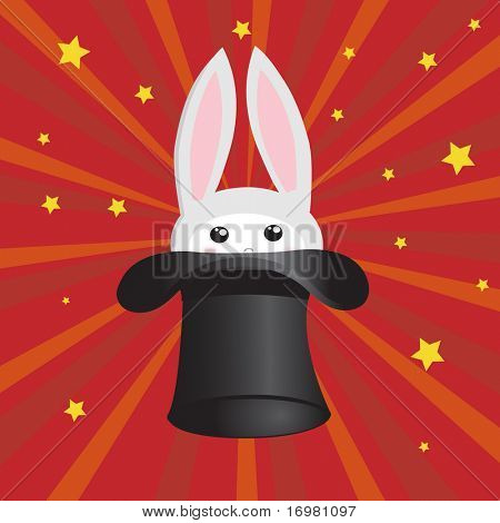 Bunny in the hat. Vector.