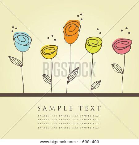 Floral-Karte. Vektor-Illustration.