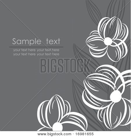 Dark floral background. Vector.