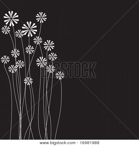Floral Grußkarte mit Platz für Text. Vektor.