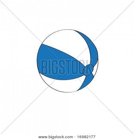 Beach ball. Vector illustration
