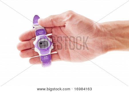 Hand Holding A Heart Rate Monitor