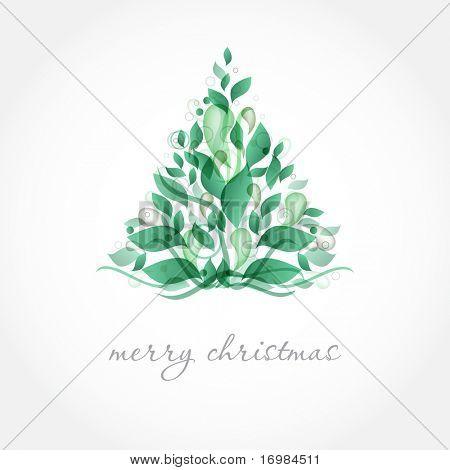 Abstract green christmas tree.