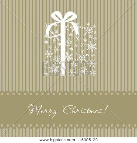 Christmas box. Vector card