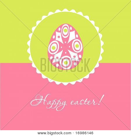 Vintage card with Easter egg