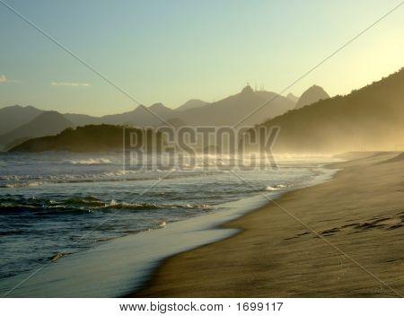 Corcovado View From Piratininga Beach, NiteróI, Rio De Janeiro