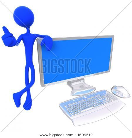 Person With Monitor