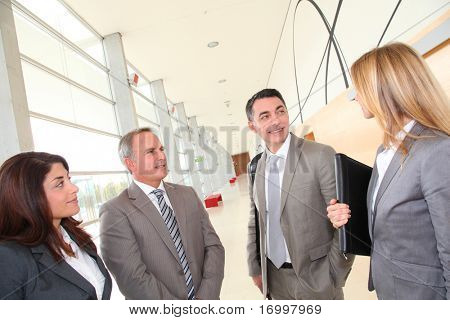 Business people meeting in congress hall