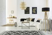 White Home Interior With Sofa poster