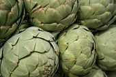 picture of gallstones  - A close look at organically grown artichoke heads at the Santa Monica farmers market - JPG