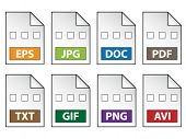 foto of png  - document icons - JPG