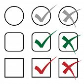 foto of check mark  - vector check marks - JPG