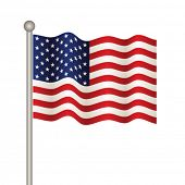pic of american flags  - vector USA flag - JPG
