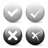 stock photo of check mark  - vector check mark buttons - JPG