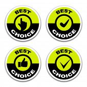 vector best choice stickers