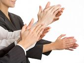 stock photo of applause  - Business people hands applaud - JPG