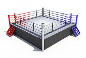foto of boxing ring  - Boxing ring isolated on white background  - JPG