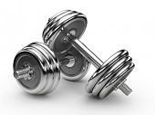 foto of weight-lifting  - Dumbell weights - JPG