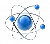 stock photo of neutrons  - Orbital model of atom - JPG