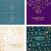 picture of wedding invitation  - Abstract luxury backgrouds set - JPG