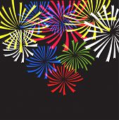 Fireworks. Vector illustration