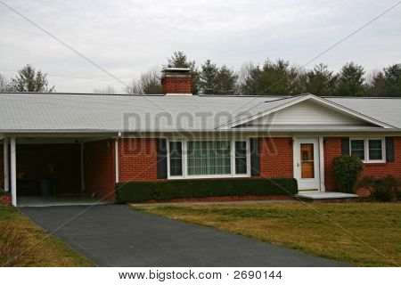 Brick Home With Carport