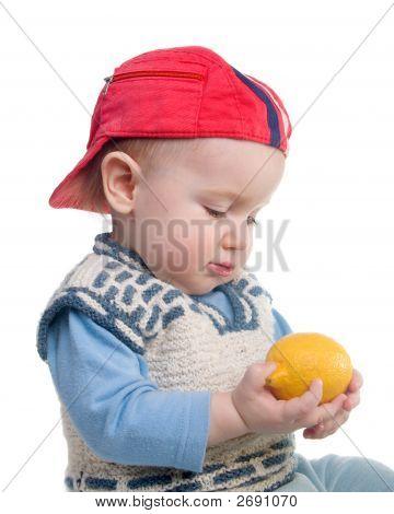 Vigorous Child And Fresh Lemon