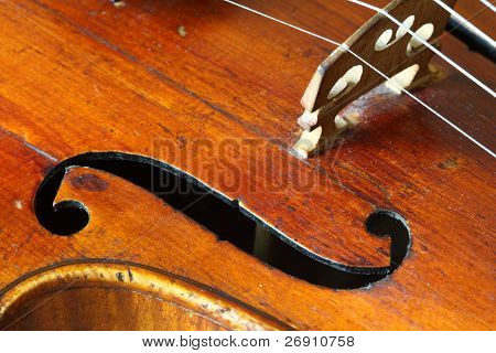 part of an antique violin