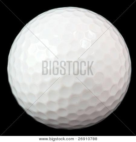 golf ball isolated on black