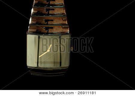 elegant wristwatch on black
