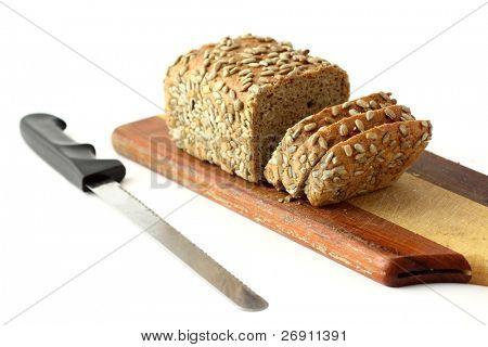 pan fresco aislado en blanco