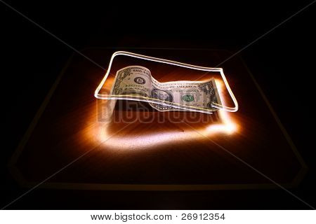 illuminated dollar