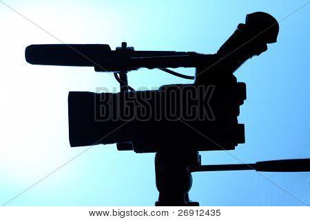 Silhouette der voller hd Kamerarecorder