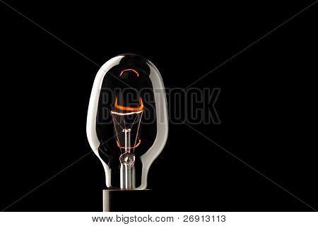 light bulb isolated on black
