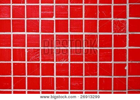 red glazed tile
