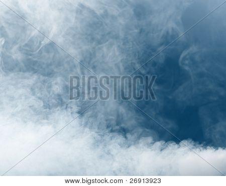 smoke background on blue