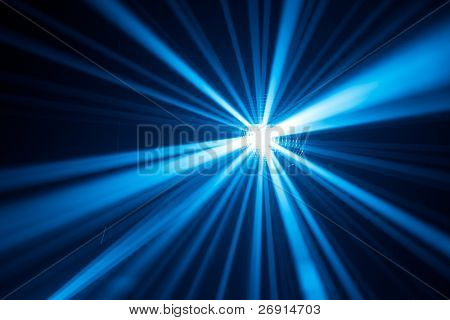 blue disco lights background