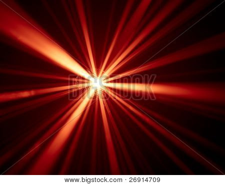 red disco lights background
