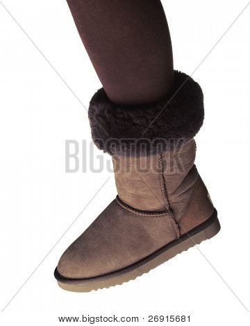 winter boot isolated