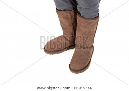 winter boots isolated