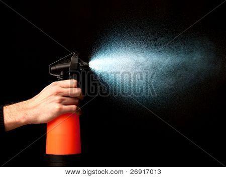 sprayer in action