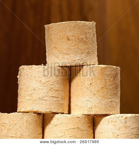 stack of bio fuel
