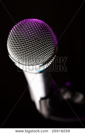 microphone closeup
