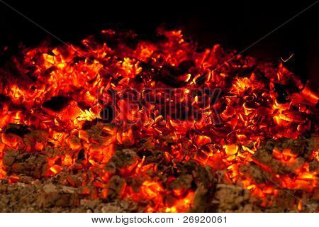 Schwelbrand Kohle