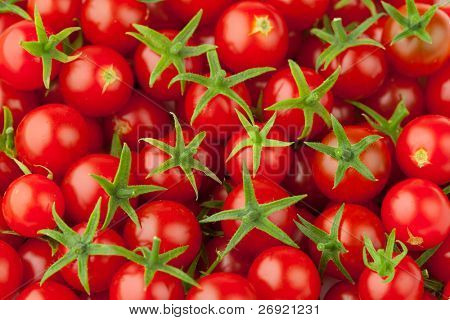 Vielzahl von Cherry-Tomaten, close up view