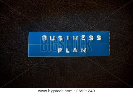 business plan title on the book