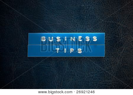 business tips title on the book