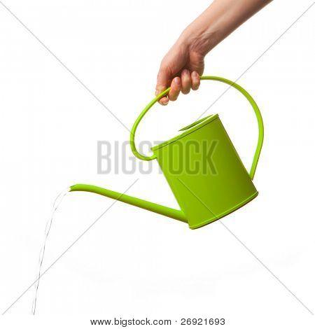 mão exploração regador isolado