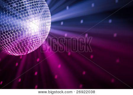 luzes de festa bola de discoteca