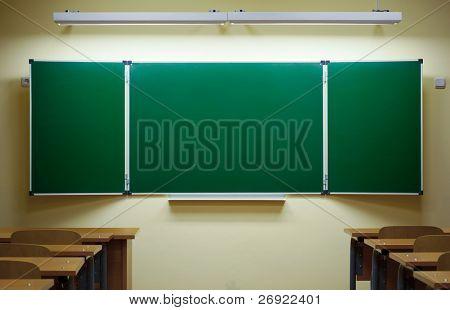 classic empty blackboard
